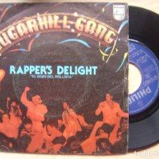 Discos de vinilo: SUGARHILL GANG RAPPERS DELIGHT - SINGLE 1979 - PHILIPS. Lote 138143154
