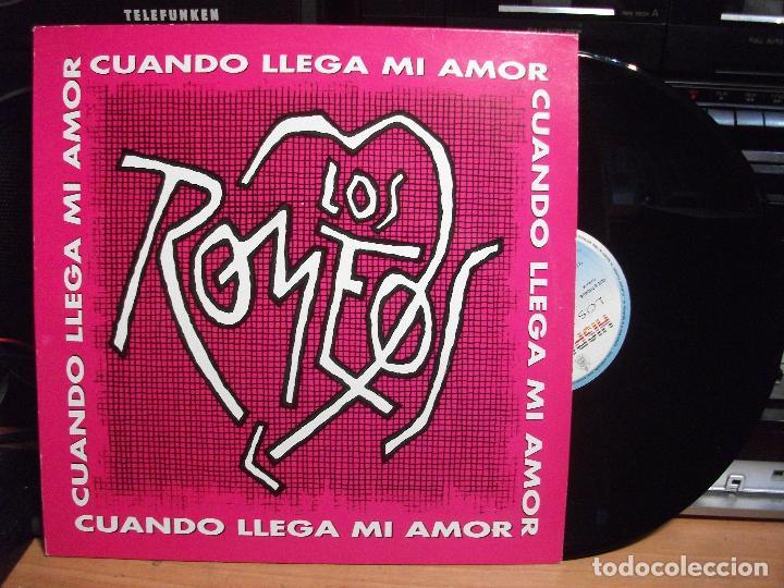 LOS ROMEOS CUANDO LLEGA MI AMOR MAXI SPAIN 1993 PDELUXE (Música - Discos de Vinilo - Maxi Singles - Grupos Españoles de los 90 a la actualidad)