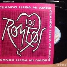 Discos de vinilo: LOS ROMEOS CUANDO LLEGA MI AMOR MAXI SPAIN 1993 PDELUXE. Lote 138183162