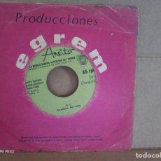Discos de vinilo: GRUPO IRAKERE CON CHUCHO VALDÉS SINGLE CUBANO/ LUISA /38 Y MEDIO. Lote 138350178