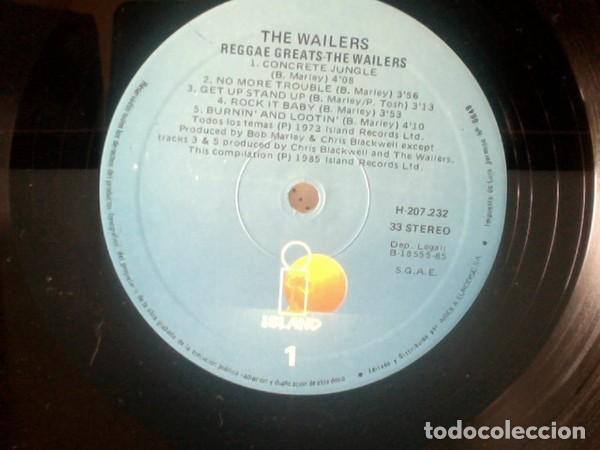 Discos de vinilo: The Wailers ?– Reggae Greats (España, 1985) - Foto 2 - 138428470