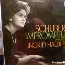 Discos de vinilo: SCHUBERT -IMPROMPTUS -INGRID HAEBLER .KLAVIER. Lote 138524058