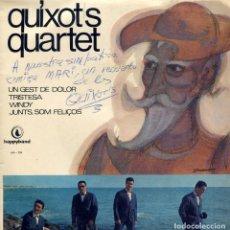 Discos de vinilo: CARATULA GRUPO ESPAÑOL QUIXOTS QUARTET FIRMADA . Lote 138541686