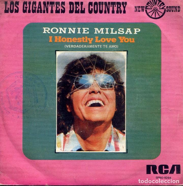RONNIE MILSAP / VERDADERAMENTE TE AMO / A LEGEND IN MY TIME (SINGLE 1975) (Música - Discos - Singles Vinilo - Country y Folk)