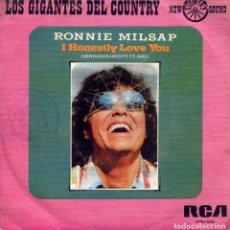 Dischi in vinile: RONNIE MILSAP / VERDADERAMENTE TE AMO / A LEGEND IN MY TIME (SINGLE 1975). Lote 138543422