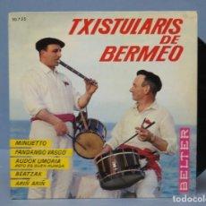 Discos de vinilo: EP. TXISTULARIS DE BERMEO. MINUETTO. Lote 138556026