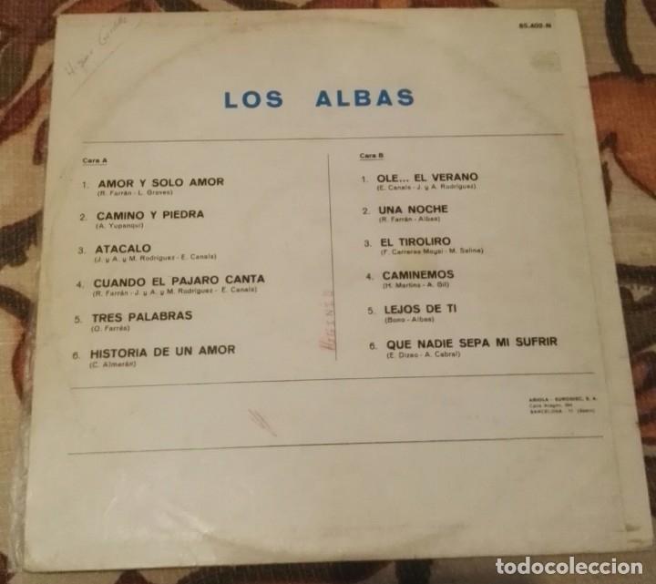 Discos de vinilo: lp los albas ariola 12 temas - Foto 2 - 138570170