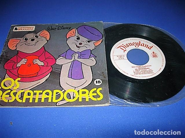 LOS RESCATADORES DE COLECCIÓN CUENTODISCO BRUGUERA CUENTO WALT DISNEY (Música - Discos de Vinilo - EPs - Música Infantil)