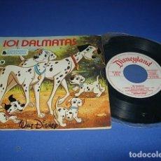 Discos de vinilo: 101 DALMATAS DE COLECCIÓN CUENTODISCO BRUGUERA CUENTO WALT DISNEY. Lote 138578258