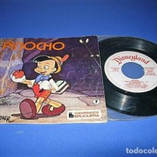 Discos de vinilo: PINOCHO DE COLECCIÓN CUENTODISCO BRUGUERA CUENTO WALT DISNEY. Lote 138578338