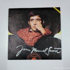 Discos de vinilo: JOAN MANUEL SERRAT. - LA LA LA / MIL GAVIOTAS. FESTIVAL DE EUROVISION 1968. SINGLE. TDKDS12. Lote 138590130