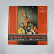 Discos de vinilo: LOS BRAVOS. IN LOVE CONTIGO. LOVE IS A SYMPHONY. GREAT IS OUR LOVE. SINGLE. TDKDS12. Lote 138603982