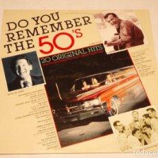 Discos de vinilo: DO YOU REMEMBER THE 50'S ( 20 ORIGINAL HITS ) 1976-GERMANY LP33 . Lote 138604214