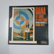 Discos de vinilo: DANA. - ALL KINDS OF EVERYTHING / CHANNEL BREEZE. GANADORA EUROVISION '70. 1970. TDKDS12. Lote 138607218