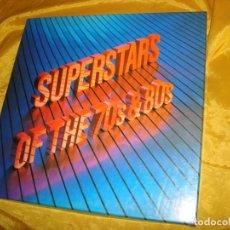 Discos de vinilo: SUPERSTARS OF THE 70´S & 80´S. READER´S DIGESTS. CAJA CON 8 LP´S + LIBRETO. IMPECABLE. Lote 138611570