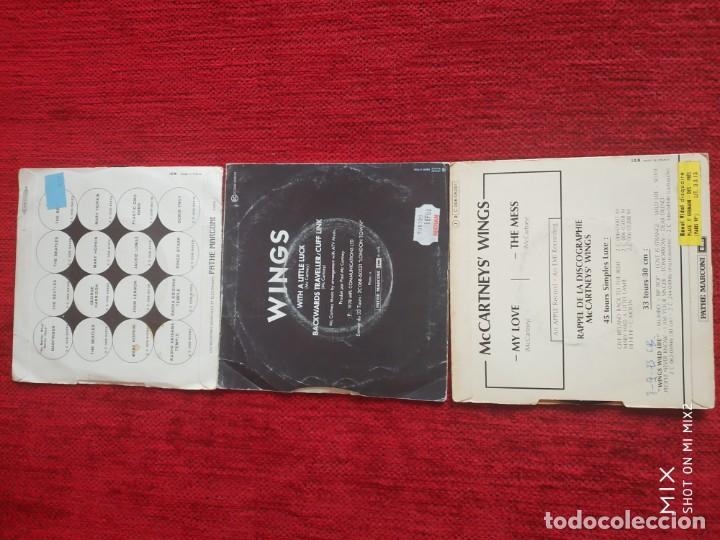 Discos de vinilo: PAUL MCCARTNEY AND WINGS /3 EDICIONES FRANCESAS DE SUS SINGLES - Foto 2 - 138629034
