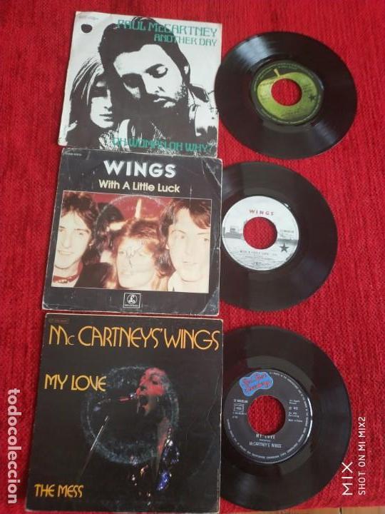 PAUL MCCARTNEY AND WINGS /3 EDICIONES FRANCESAS DE SUS SINGLES (Música - Discos - Singles Vinilo - Pop - Rock Extranjero de los 90 a la actualidad)
