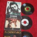 Discos de vinilo: PAUL MCCARTNEY AND WINGS /3 EDICIONES FRANCESAS DE SUS SINGLES. Lote 138629034
