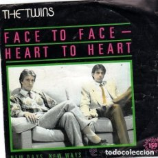 Discos de vinilo: THE TWINS – FACE TO FACE - HEART TO HEART - SINGLE SPAIN 1982. Lote 138644338