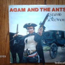 Discos de vinilo: ADAM AND THE ANTS - STAND AND DELIVER + BEAT MY GUEST . Lote 138653882