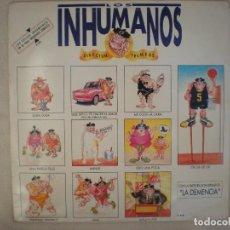 Discos de vinilo: LOS INHUMANOS_DIRECTUM TREMENS_DOBLE VINILO LP 12'' EN DIRECTO EDICION ESPAÑOLA_1992 COMO NUEVO!!!. Lote 138655210