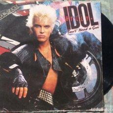 Discos de vinilo: BILLY IDOL - DON'T NEED A GUN (CHRYSALIS, 1987). Lote 138656994