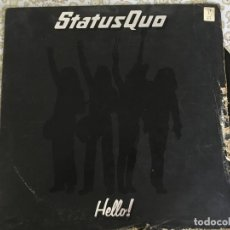Discos de vinilo: LP STATUS QUO-HELLO-UK. Lote 138672606