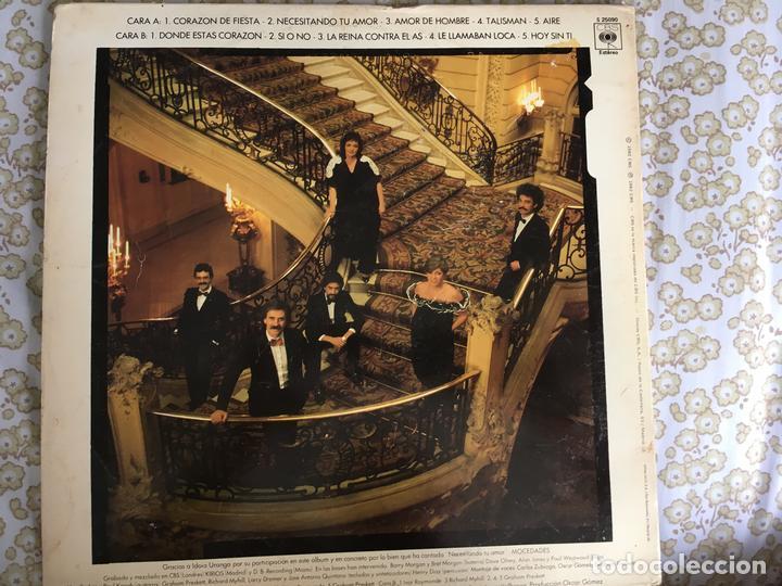 Discos de vinilo: LP MOCEDADES-AMOR DE HOMBRE - Foto 3 - 138679254