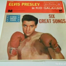 Discos de vinilo: ELVIS PRESLEY - KID GALAHAD -, EP, KING OF THE WHOLE WIDE WORLD + 3, AÑO 1962. Lote 138681122