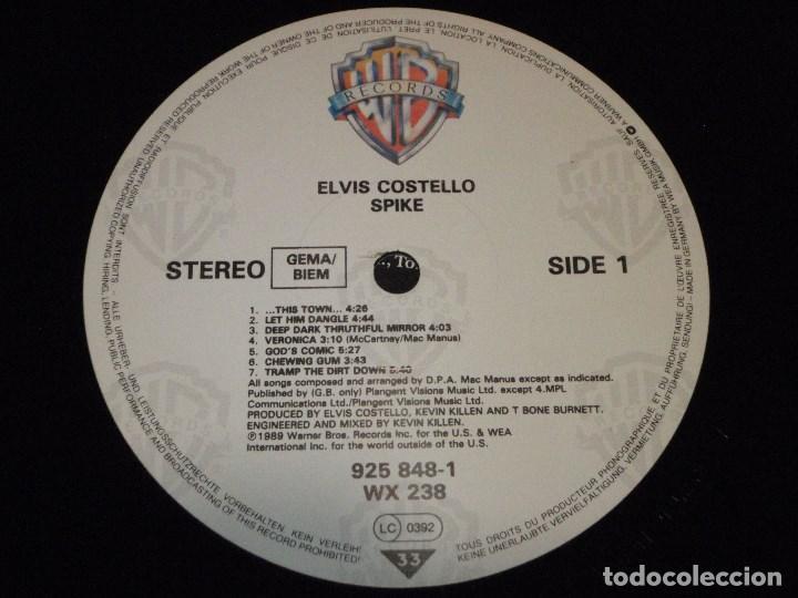 Discos de vinilo: Elvis Costello – Spike GERMANY 1989 WARNER BROS RECORDS - Foto 6 - 138703886