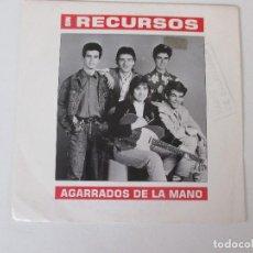 Disques de vinyle: SIN RECURSOS AGARRADOS DE LA MANO +1 EMI 1990. Lote 138706930