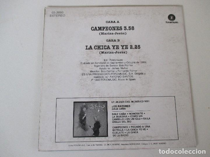 Discos de vinilo: LOS RATONES CAMPEONES/ LA CHICA YE YE FONOMUSIC 1990 - Foto 2 - 138707618