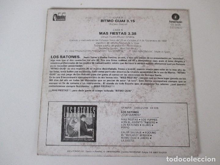 Discos de vinilo: LOS RATONES RITMO GUAI/ MAS FIESTAS FONOMUSIC 1989 - Foto 2 - 138708690