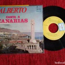Discos de vinilo: ALBERTO CANTA A CANARIAS EP/ ESA VIEJA FAROLA DEL MAR /NUEVO. Lote 138711174