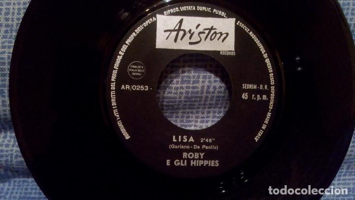 Discos de vinilo: ROBY E GLI HIPPIES - PILAR / LISA - MUY RARO SINGLE EN EDICION ITALIANA EN ESTADO NUEVO, SIN USO - Foto 4 - 138726766