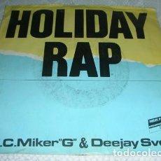 Discos de vinilo: M.C. MIKER G & DEEJAY SVEN – HOLIDAY RAP - SINGLE. Lote 138731486