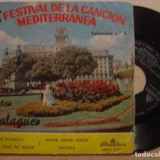 Discos de vinilo: VICTOR BALAGUER - MI PEQUEÑA - EP 1960 - ALHAMBRA // 2º FESTIVAL DE LA CANCION MEDITERRANEA. Lote 138733490