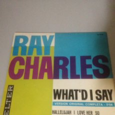 Discos de vinilo: RAY CHARLES WHAT´D I SAY. Lote 138736089