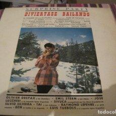 Discos de vinilo: LP-SURPRISE PARTY DIVIERTASE BAILANDO BARCLAY 417 SPAIN 1963 MASHED POTATOES COVER OLIVIER DESPAX. Lote 146076014
