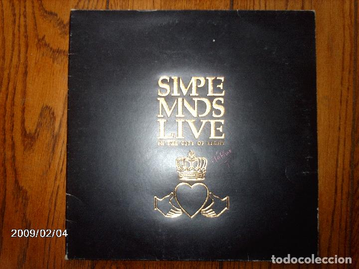 SIMPLE MINDS - LIVE IN THE CITY OF LIGHT - LEER DESCRIPCIÓN (Música - Discos - LP Vinilo - Pop - Rock - New Wave Extranjero de los 80)