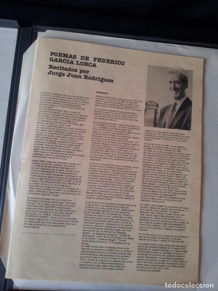 Discos de vinilo: POEMAS DE FEDERICO GARCIA LORCA RECITADOS POR JORGE JUAN RODRIGUEZ - CAJA EDITADA PARA FOLKWAYS 2LP - Foto 3 - 138756490