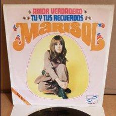 Discos de vinilo: MARISOL / AMOR VERDADERO / SINGLE - ZAFIRO - 1969 / MBC. ***/***. Lote 138756726