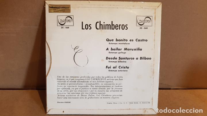 Discos de vinilo: LOS CHIMBEROS / QUE BONITO ES CASTRO / EP - ZAFIRO - 1964 / MBC. ***/*** - Foto 2 - 138757690