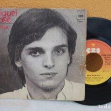 Discos de vinilo: VINILO SENCILLO DE MIGUEL BOSÉ, LINDA. Lote 138764830