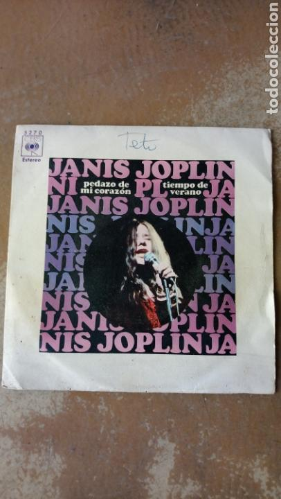JANIS JOPLIN–PEDAZO DE MI CORAZÓN / TIEMPO DE VERANO . SPAIN 1970. (Música - Discos - Singles Vinilo - Pop - Rock - Extranjero de los 70)