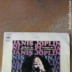 Discos de vinilo: JANIS JOPLIN–PEDAZO DE MI CORAZÓN / TIEMPO DE VERANO . SPAIN 1970.. Lote 138767510