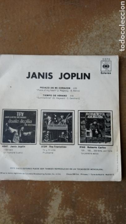 Discos de vinilo: Janis Joplin–Pedazo De Mi Corazón / Tiempo De Verano . Spain 1970. - Foto 3 - 138767510