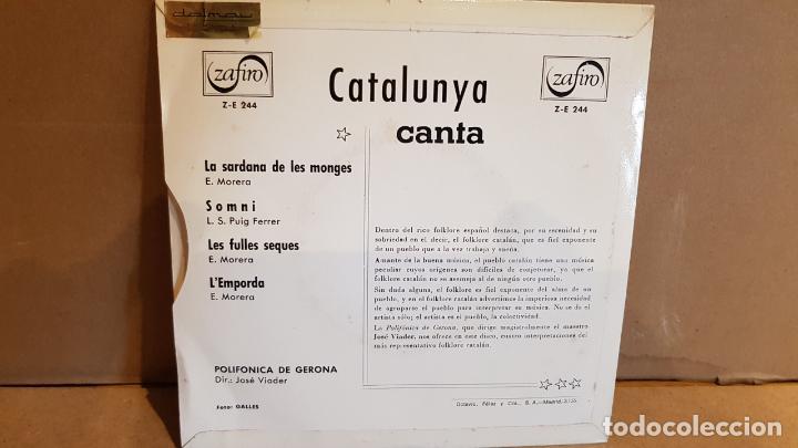 Discos de vinilo: POLIFÓNICA DE GERONA / CATALUNYA CANTA / JOSÉ VIADER / EP - RCA-VICTOR - 1967 / MBC. ***/*** - Foto 2 - 138769030