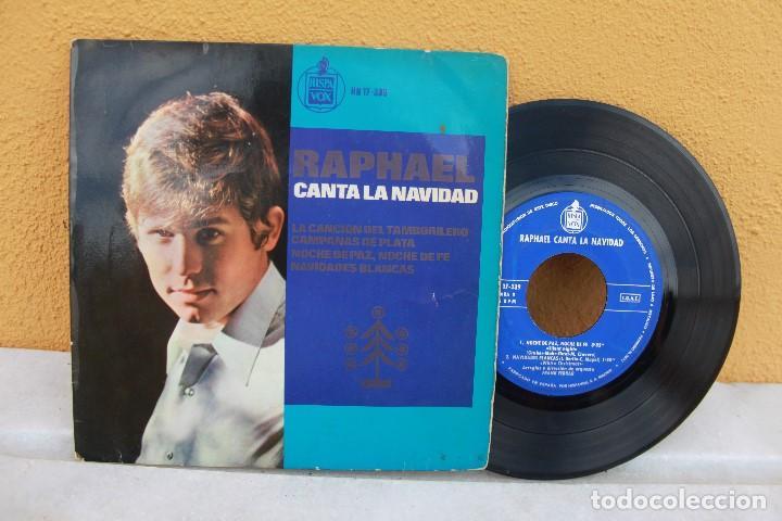 VINILO SENCILLO, RAPHAEL CANTA A LA NAVIDAD (Música - Discos de Vinilo - Maxi Singles - Solistas Españoles de los 50 y 60)