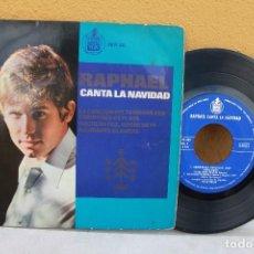 Discos de vinilo: VINILO SENCILLO, RAPHAEL CANTA A LA NAVIDAD. Lote 175617404